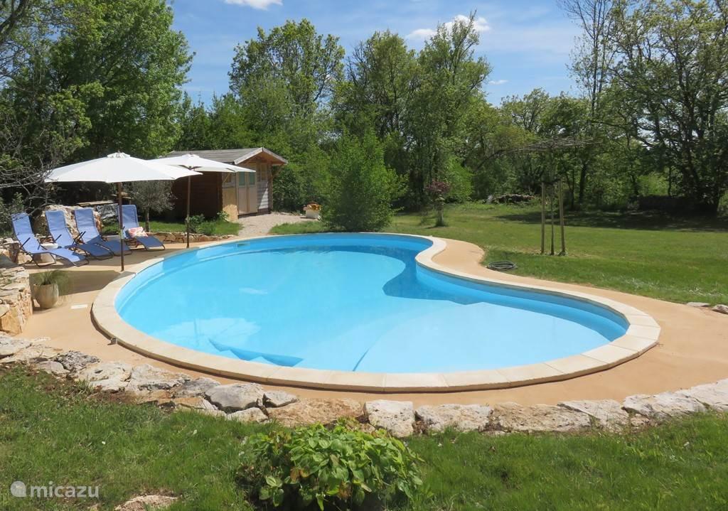 het heerlijk verwarmde zwembad