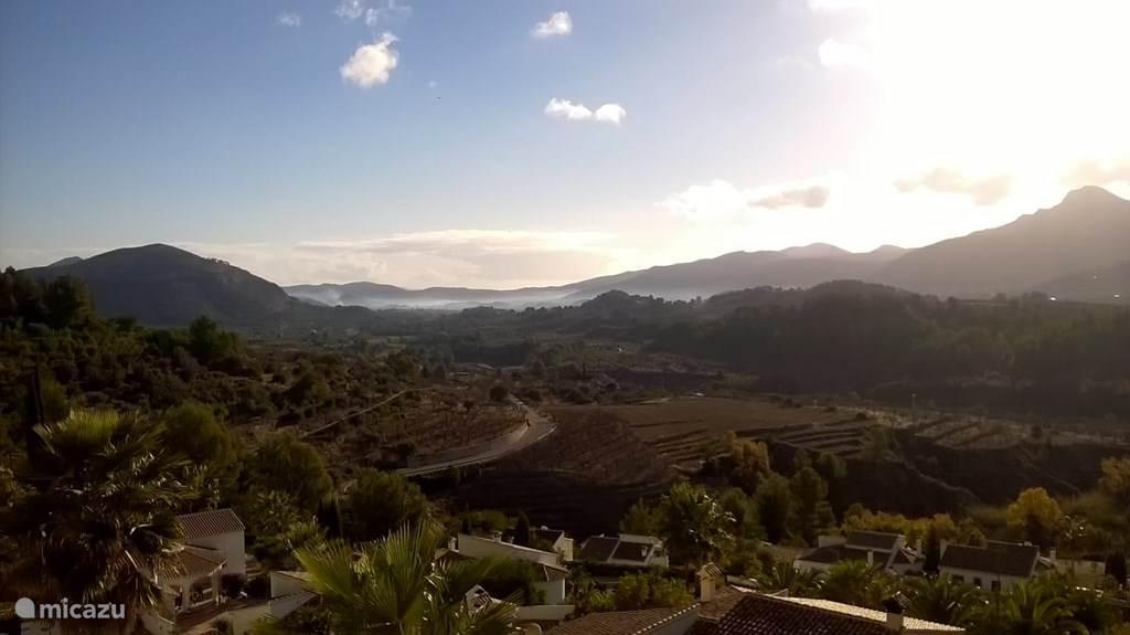 De Jalon vallei - uitzicht vanuit de casa