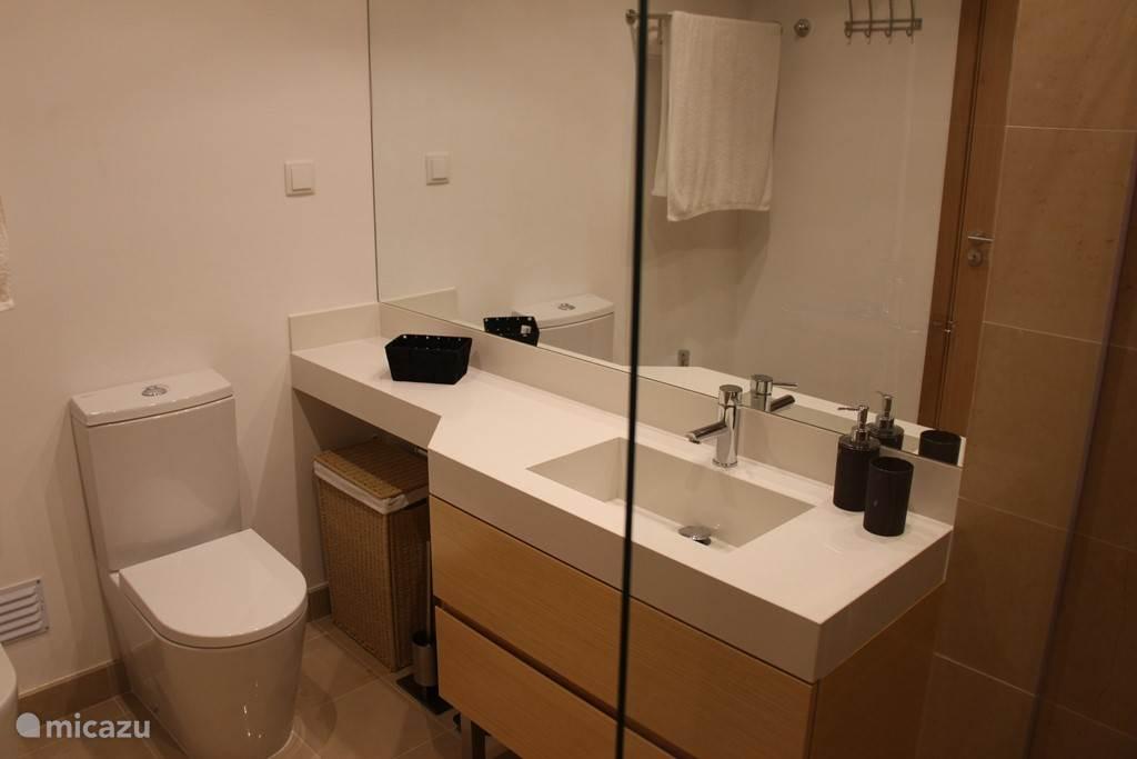 badkamer van de hoofdslaapkamer