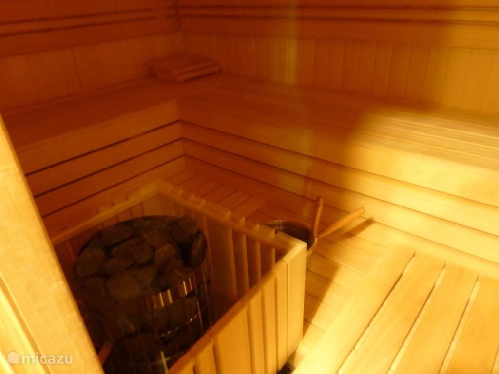 Sauna tegen betaling.