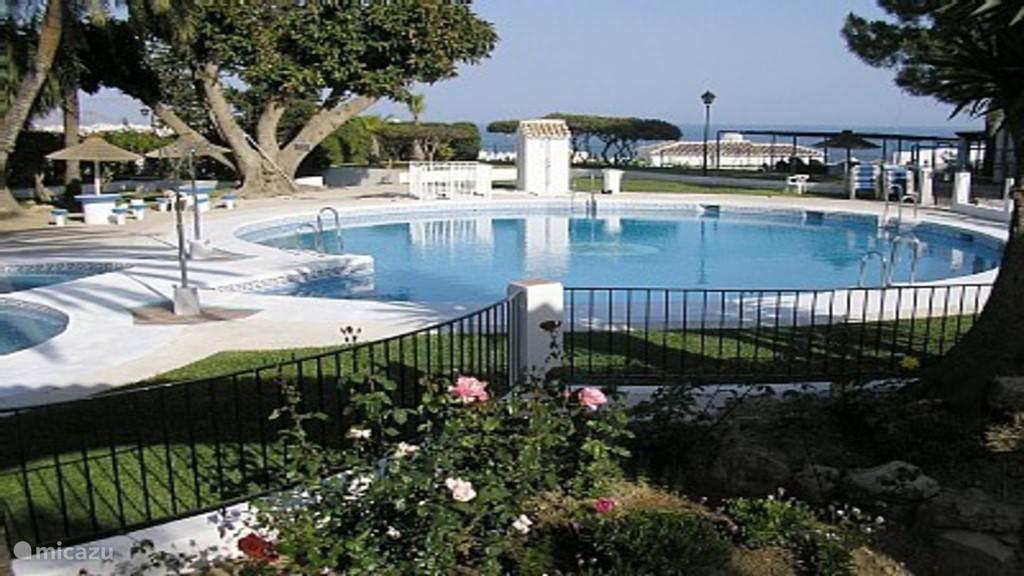 Gemeenschappelijk zwembad. 50 meter van het huis
