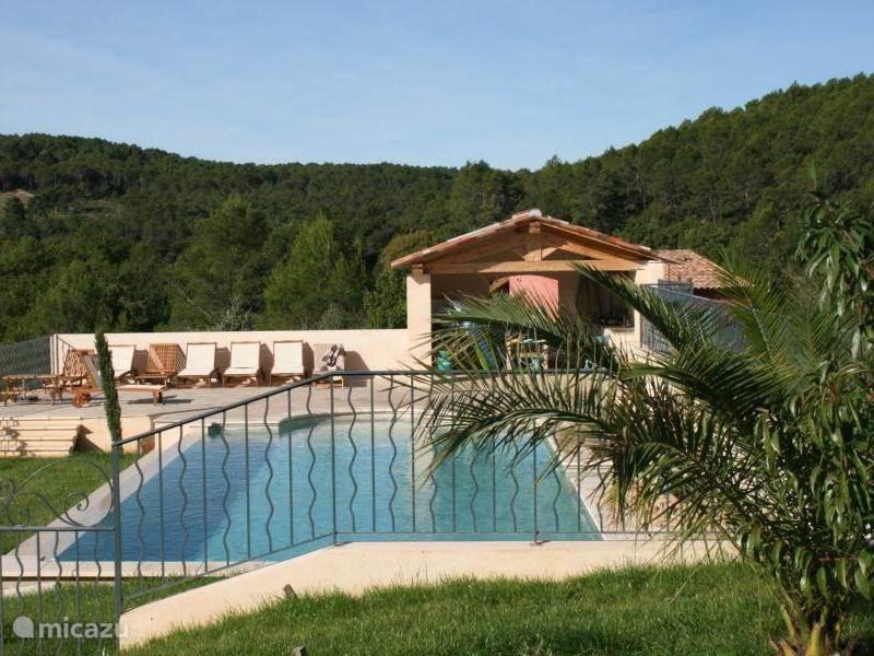 Zwembad met zomerkeuken inclusief  gasbarbecue en extra koelkast
