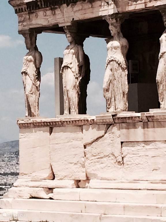 Karyatiden op de Acropolis.