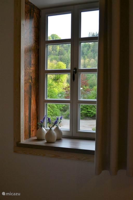 Uitzicht raam slaapkamer