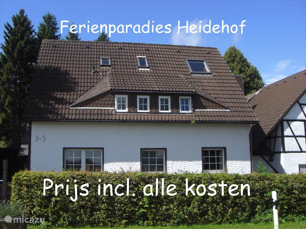 Vacation rental Germany, Eifel, Hellenthal holiday house Group accommodation Heidehof