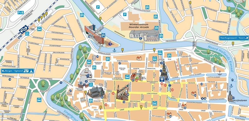 map alkmaar