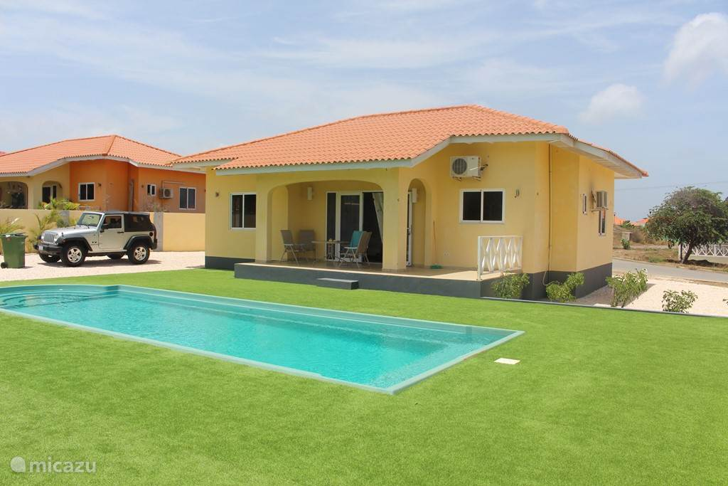 Rear side with swimming pool