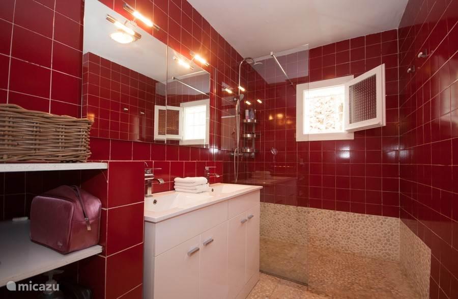 Ruime badkamer met inloopdouche