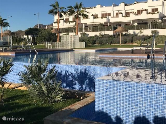 Vakantiehuis Spanje, Costa de Almería, San Juan de los Terreros appartement 5 sterren App. + Dakterras aan zee