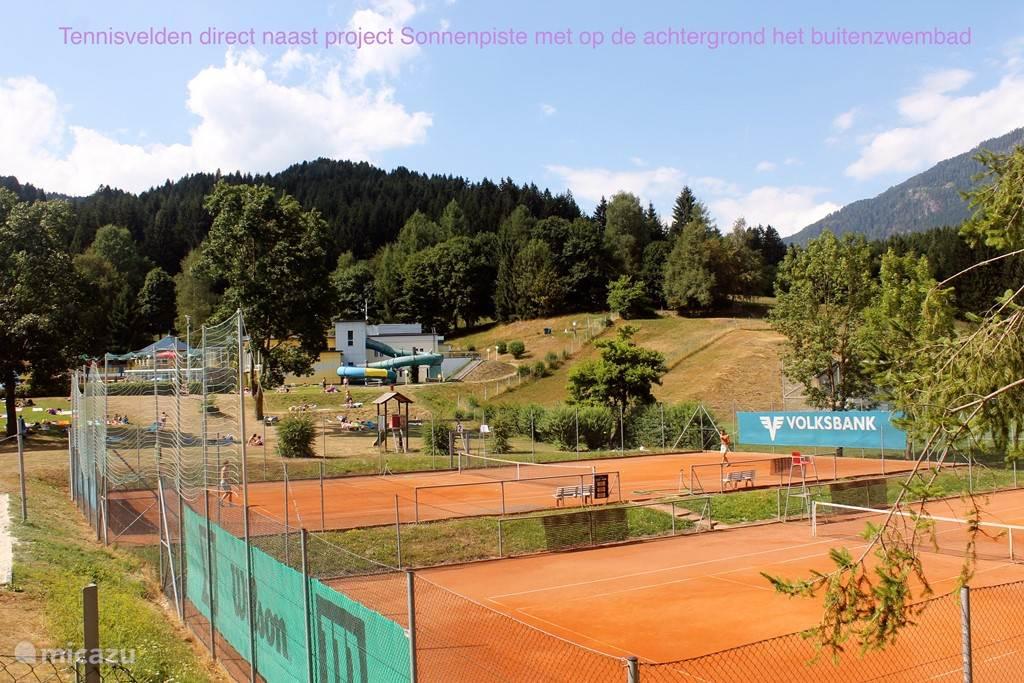 Tennis courts next door