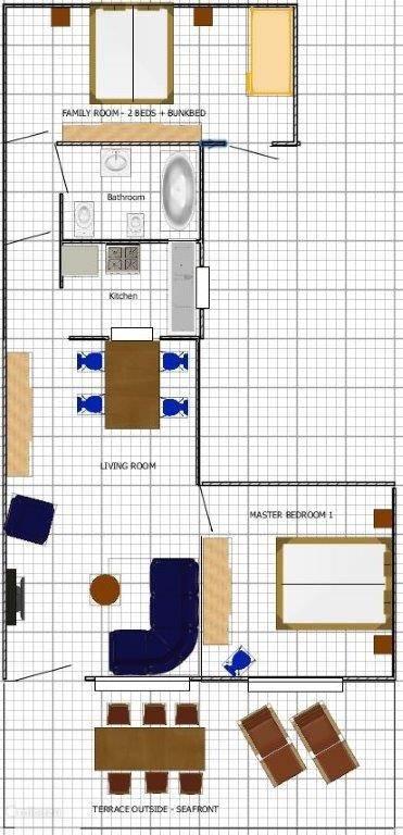 Indeling appartement Club Chameleon