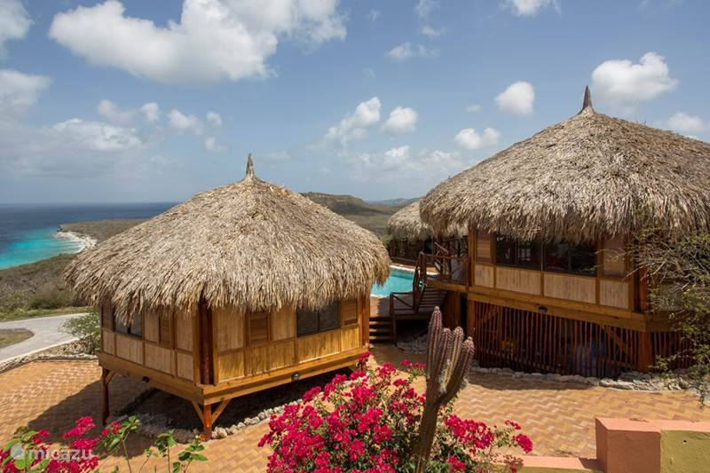 Ferienwohnung Curaçao, Banda Abou (West), Cas Abou Blockhütte / Lodge Palapa Lodge Cas Abou | 4-12 Gäste