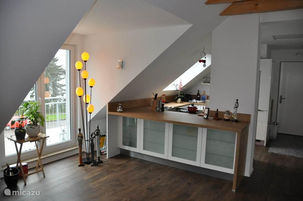 Balkon, open keuken
