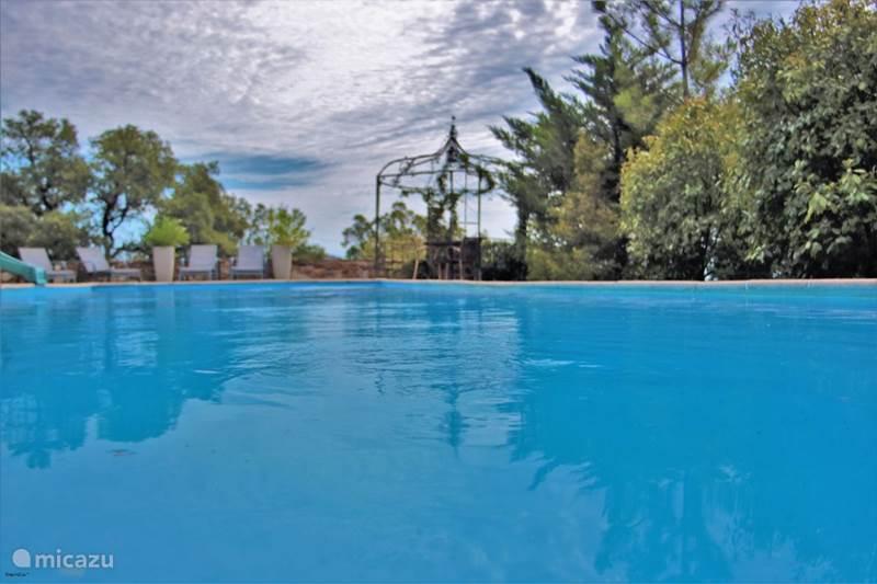 Vakantiehuis Frankrijk, Côte d´Azur, Le Plan-de-la-Tour Gîte / Cottage Gites Bon Vivre zwembad en zeezicht