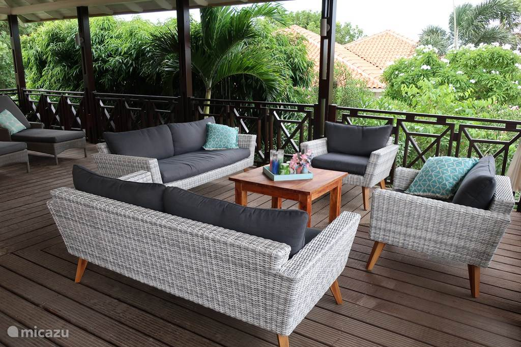 Seating area on terrace