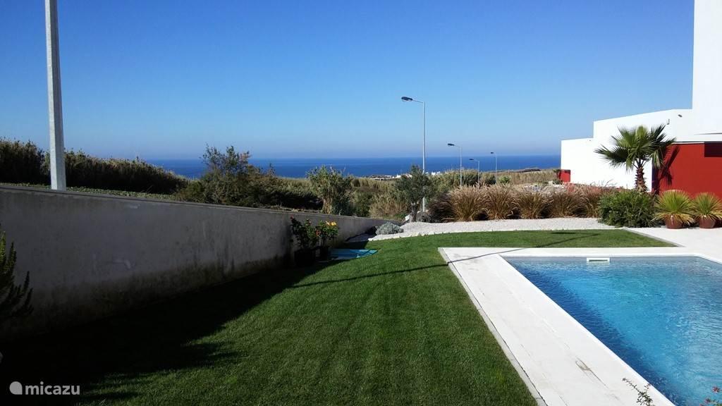 Deel van tuin en zwembad