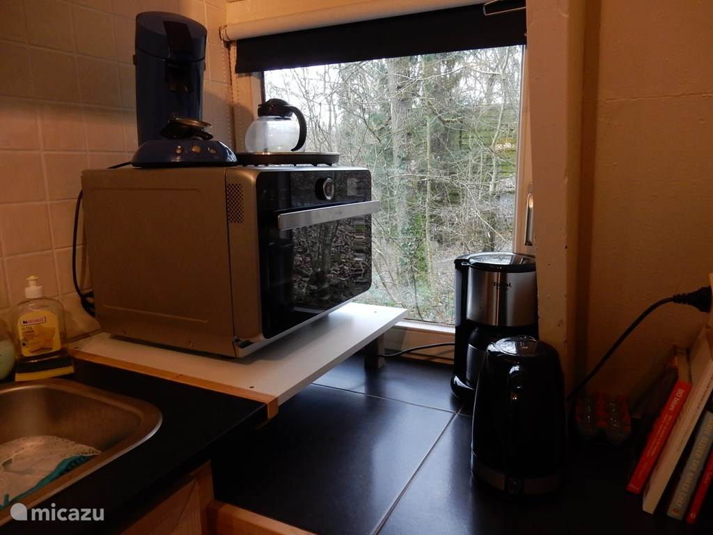 A good combination microwave, senseo, coffee maker and kettle.