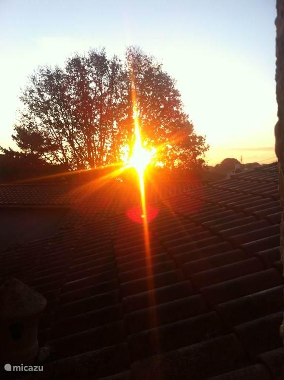 De Ochtend Zon ! aan de Oostkant.