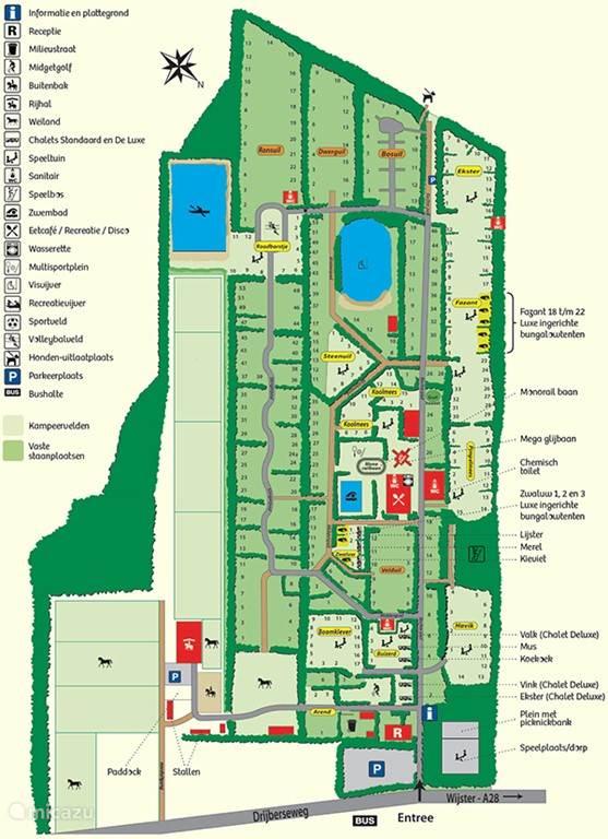 Plattegrond van vakantiepark de Otterberg