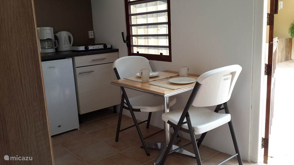 Kitchen area with dining area