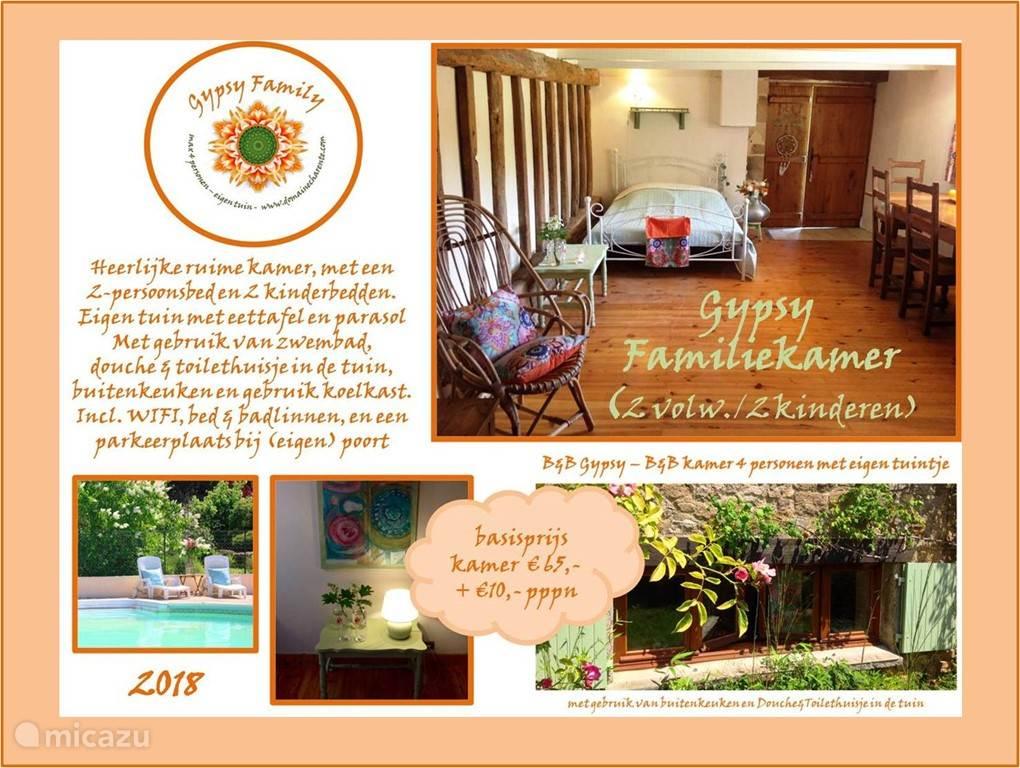 Vakantiehuis Frankrijk, Charente – appartement Familiekamer (externe douche/toilet)