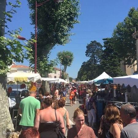 Weekmarkt Olonzac (dinsdagochtend)