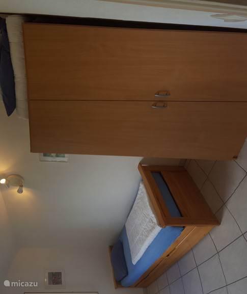 Slaapkamer bovenverdieping met mooi uitzicht