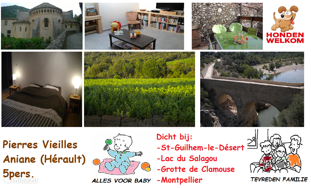 Vacation rental France, Languedoc-Roussillon, Aniane apartment Pierres Vieilles