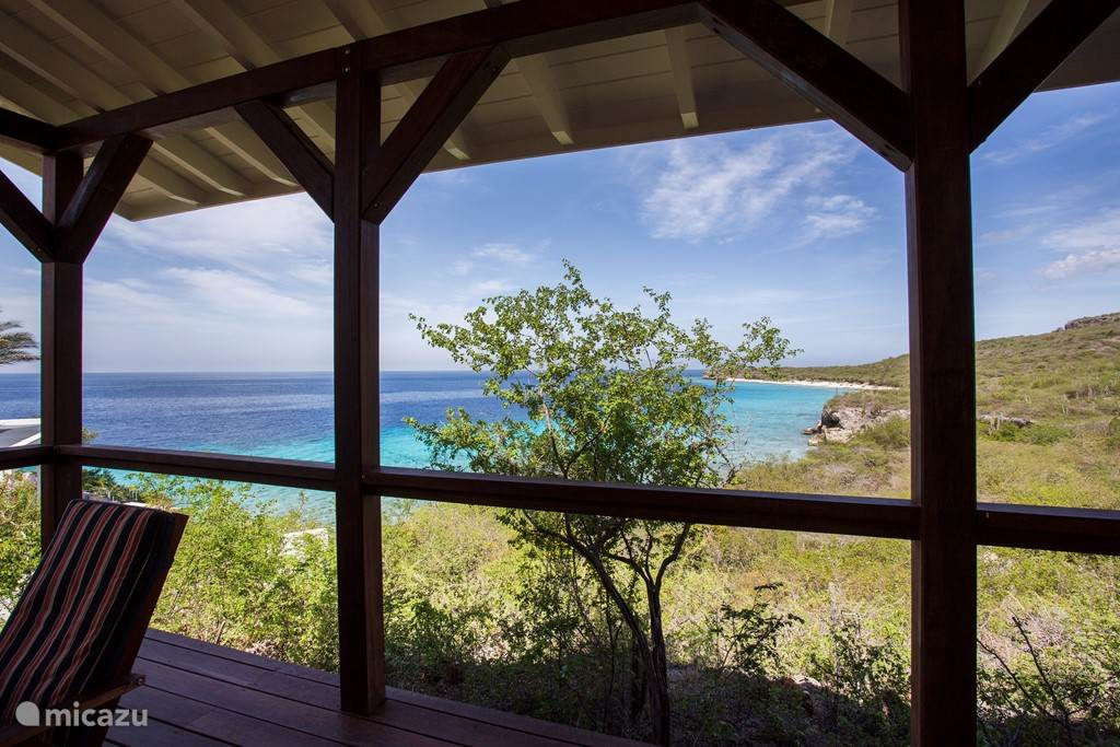 Breathtaking views from the porch across the Caribbean Sea.