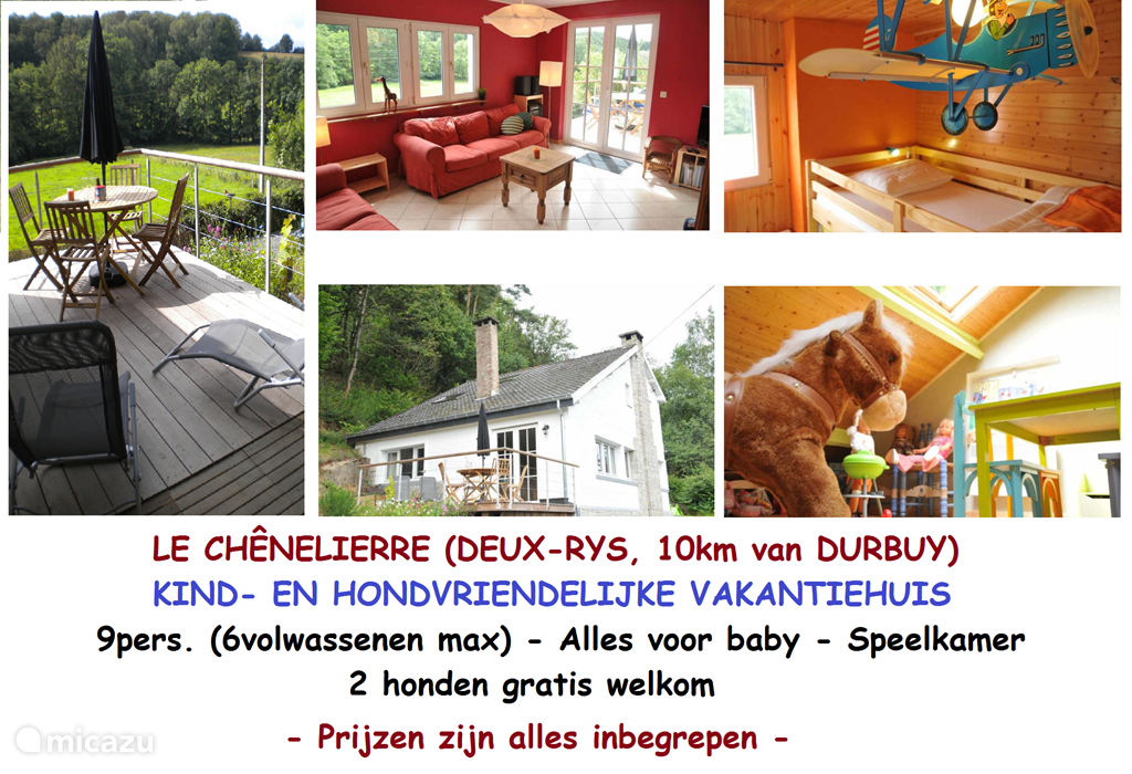 Vacation rental Belgium, Ardennes, Heyd - holiday house Le Chênelierre