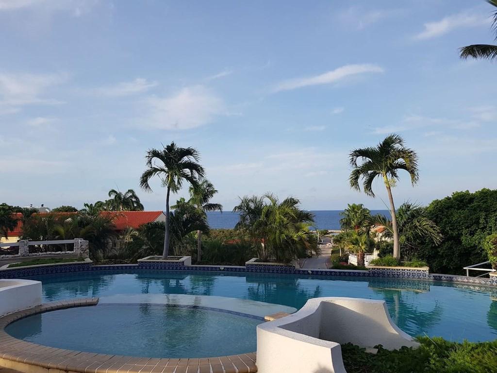 Prachtig gelegen appartement op de begane grond. Mooi zicht op een natuurgebied en de zee.  De woning ligt in een bewaakt resort, caribisch en rustig