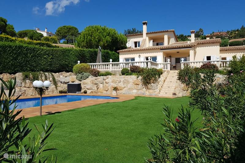Vakantiehuis Spanje, Costa Brava, Castell d'Aro Villa Villa el Dorado, zeezicht en zwembad