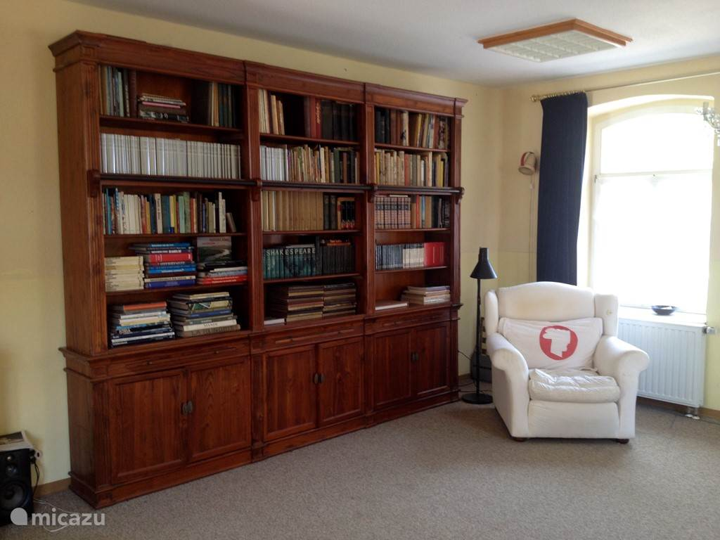 Overal boekenkasten in huis..