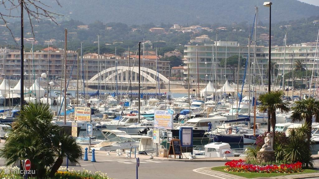 Haven van gezellige plaats St. Maxime