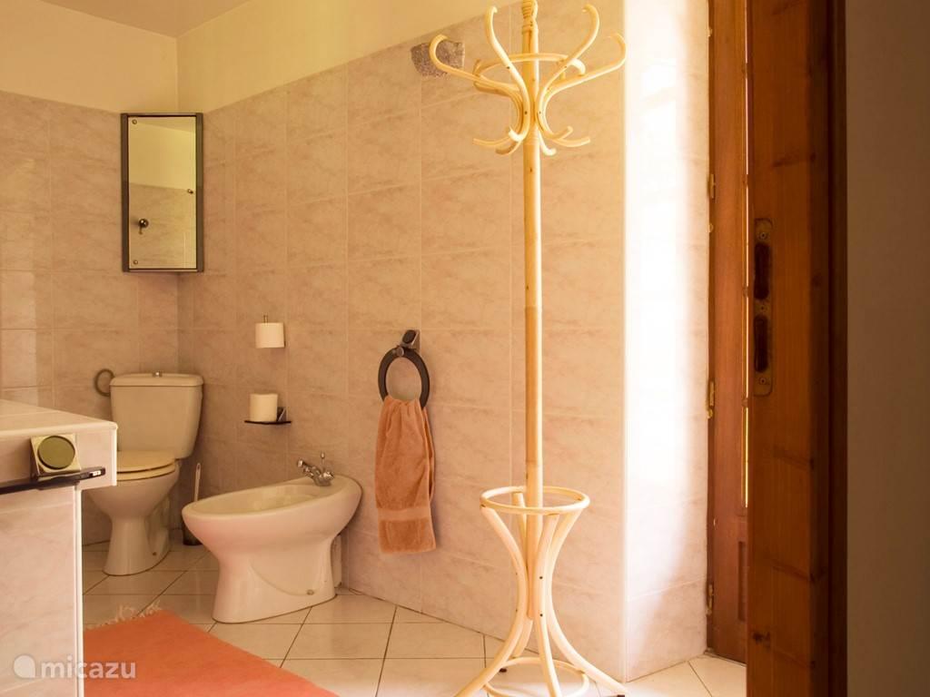 Badkamer met douche begane grond
