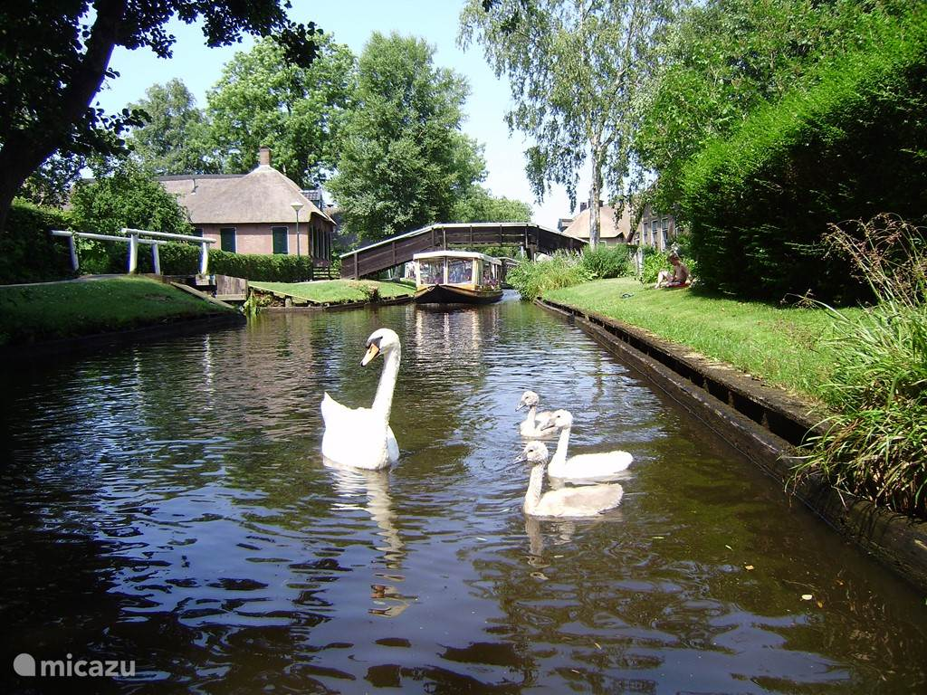 Canal in Giethoorn.