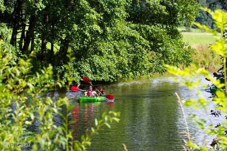 Canoeing on the Ourthe