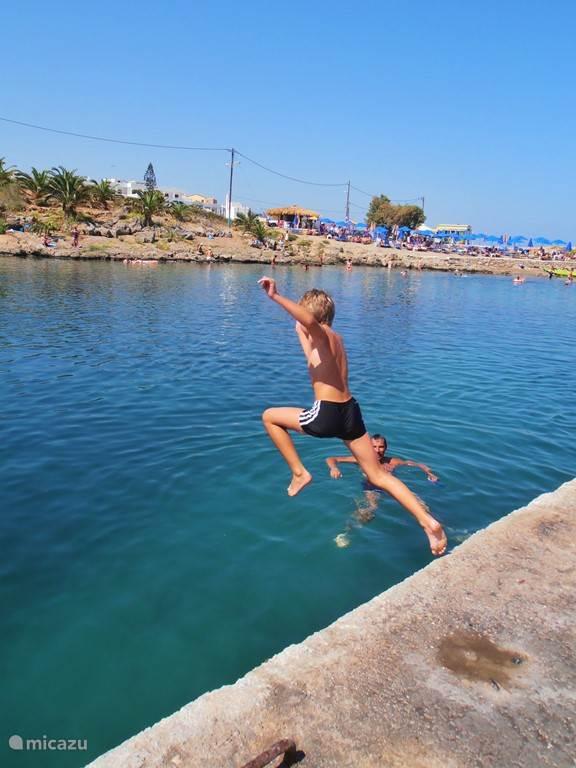 Heerlijk zwemmen in de baai
