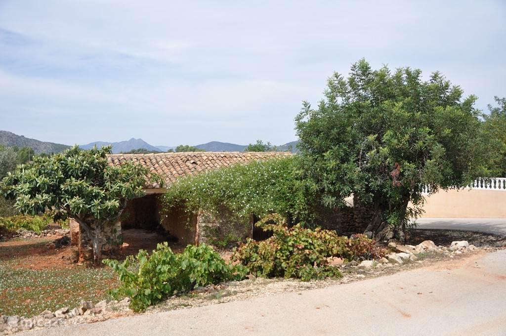 Tegenover de villa ziet u deze mooie oude wijn finca