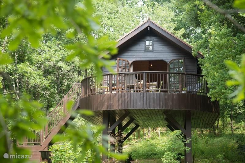 Vakantiehuis Frankrijk, Dordogne, Auriac-du-Périgord Blokhut / Lodge Cabane Mesange