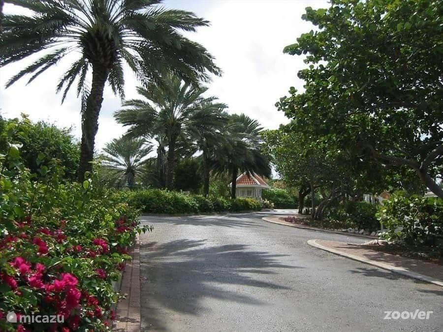 Beveiligde ingang van Piscadera Bay Resort