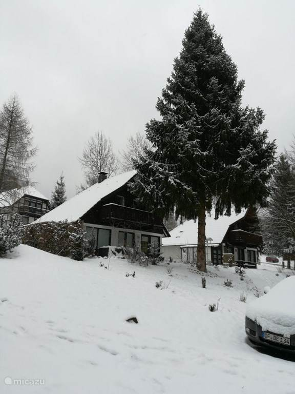 Ferienhaus Erica in de winter