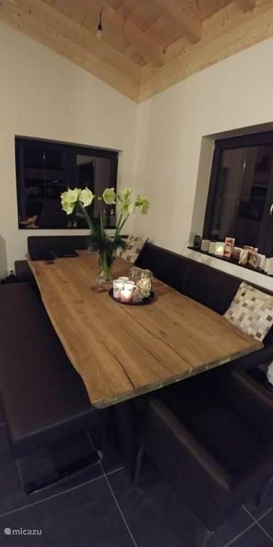 Cozy, spacious dining area.