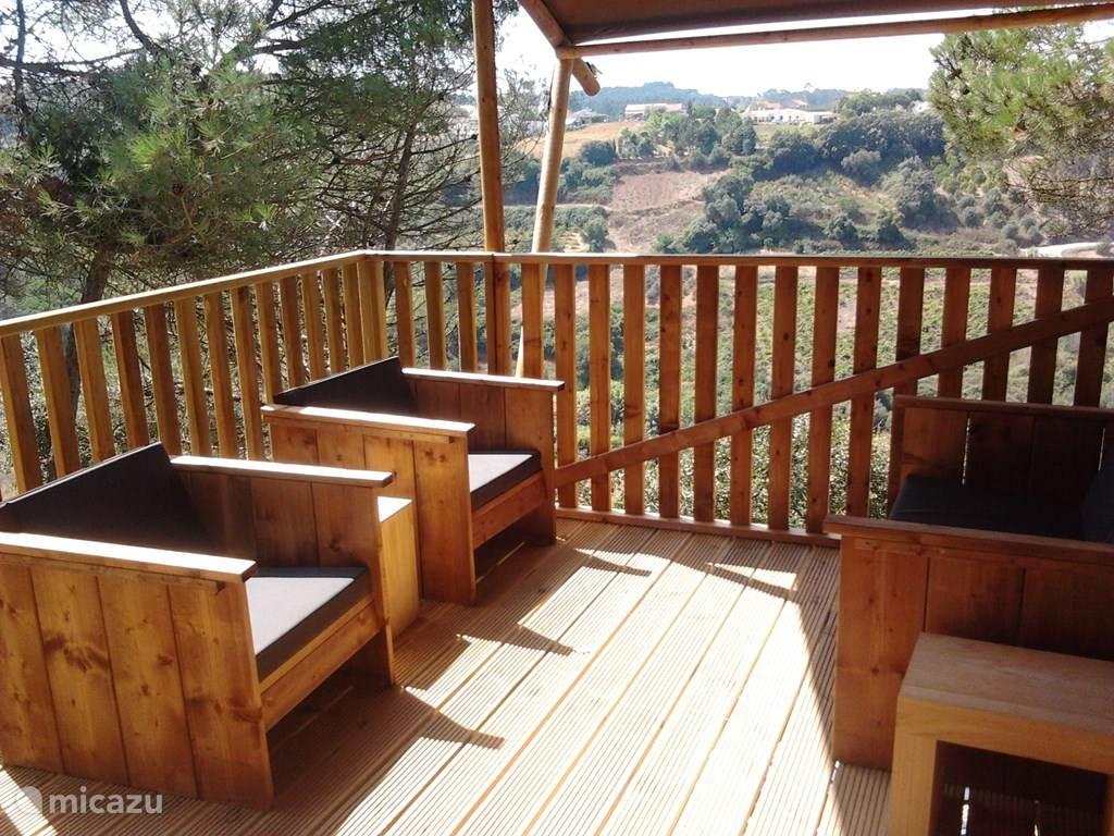 Loungeset op het terras.