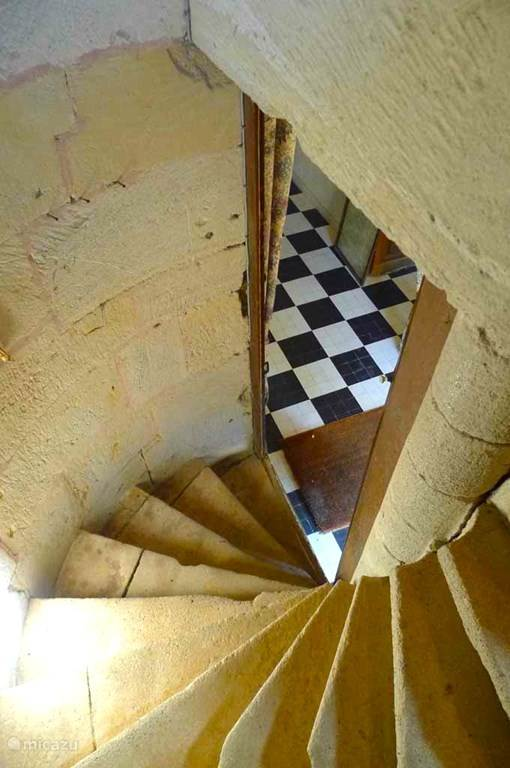 The ancient staircase in the tower