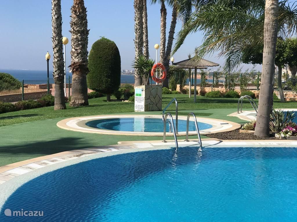 Groepsaccommodatie, Spanje, Costa Blanca, Orihuela Costa, appartement 1 ste lijn , luxe app , met zwemkom