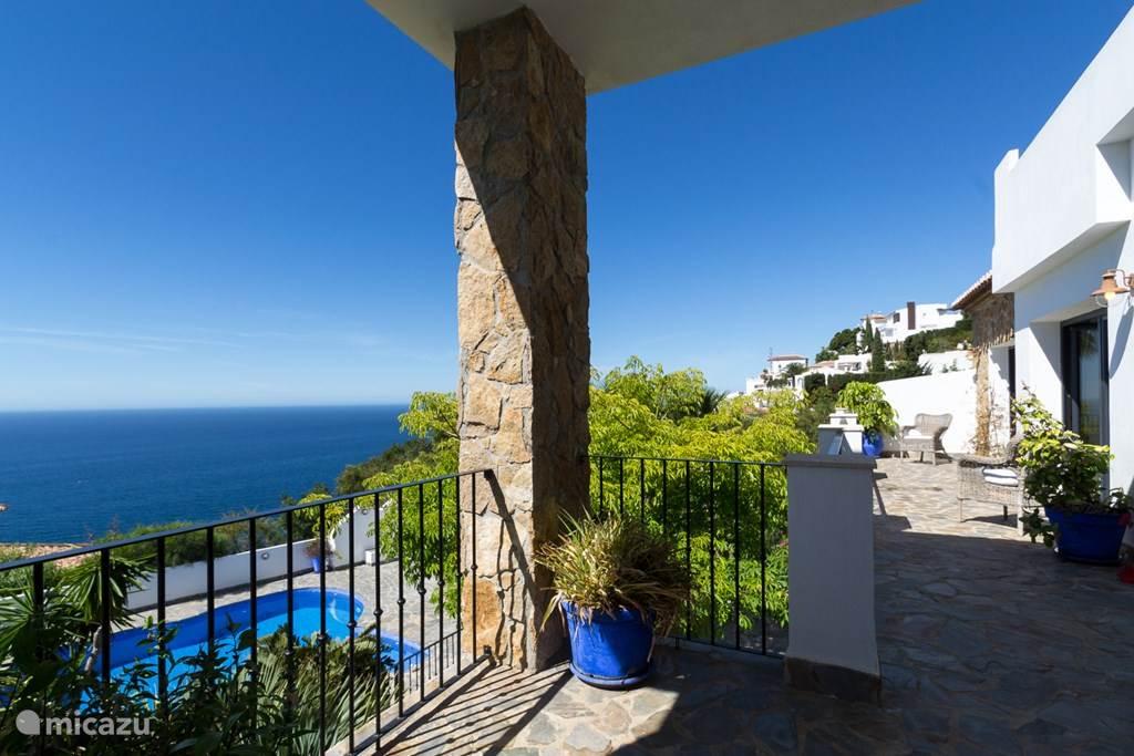 Adembenemend uitzicht op de Middellandse Zee.