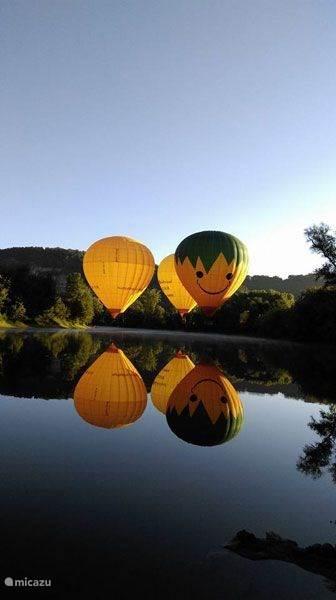 Attractie met de lucht ballon