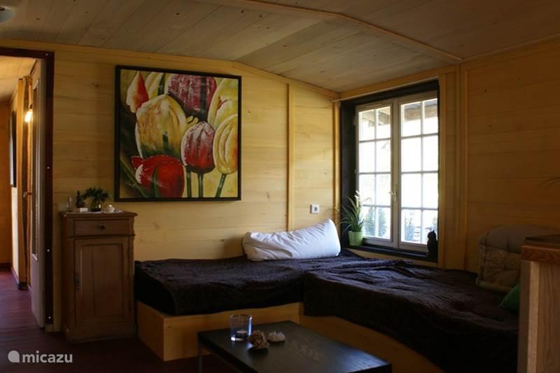 Vakantiehuis Frankrijk, Lot, Cajarc Blokhut / Lodge Mariposa, Houten Chalet
