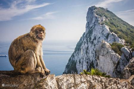 Gibraltar en zicht op Afrika
